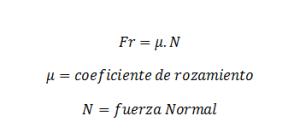 ecuacion de rozamiento