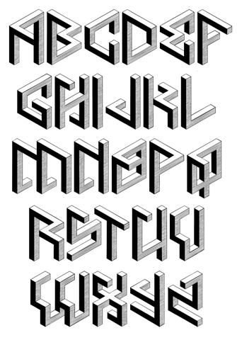 letra isometrica 1