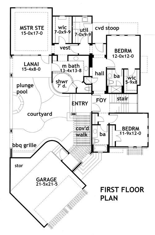 Planos de casas modernas de dos plantas p1