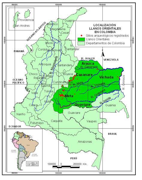 Ubicacion Llanos Orientales