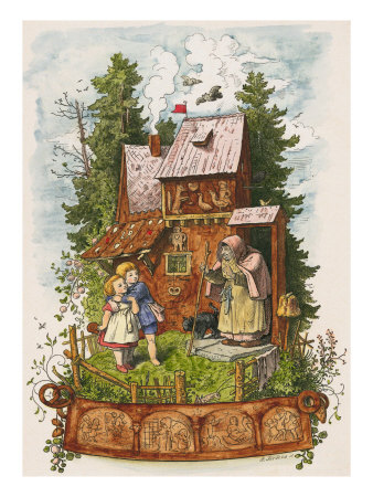 richter-ludwig-hansel-and-gretel-outside-the-gingerbread-house