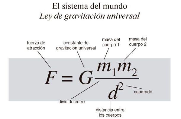 Resultado de imagen para newton y la gravitacion universal