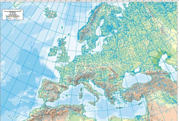 Resultado de imagen para mapa fisico de europa